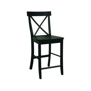 JOHN THOMAS FURNITUREX-Back Stool in Black