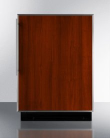 Built-in Undercounter Refrigerator-freezer In White With Manual Defrost and Stainless Steel Door Frame for Custom Panels
