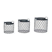 Black Wire Rhombus Baskets