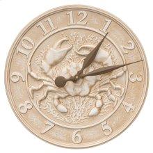 Crab Sealife Clock - Limestone