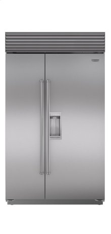 "48"" Built-In Side-by-Side Refrigerator/Freezer with Dispenser"