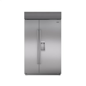 "Subzero48"" Built-In Side-by-Side Refrigerator/Freezer with Dispenser"