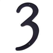 "Black 4"" House Number ""3"""