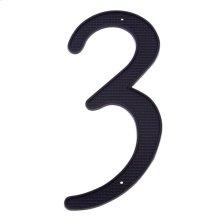 """Black 4"""" House Number """"3"""""""