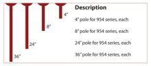"8"" pole for serpentine light 954 series"