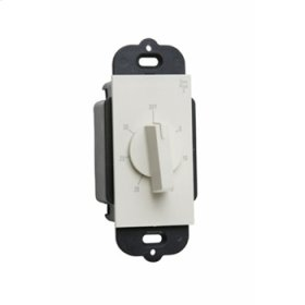Wall Box Decorator RotaryTimer, White