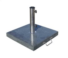 Patio Umbrella Base : 60 lbs. Stained Granite Base with Wheel