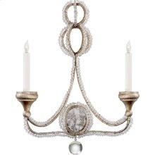 Visual Comfort NW2030VS Niermann Weeks Milan 2 Light 18 inch Venetian Silver Sconce Wall Light, Niermann Weeks, Clear Crystal