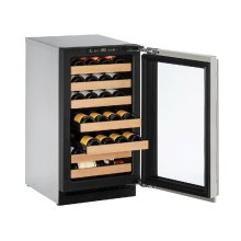 "2000 Series 18"" Wine Captain® Model With Stainless Frame Finish and Field Reversible Door Swing (115 Volts / 60 Hz)"