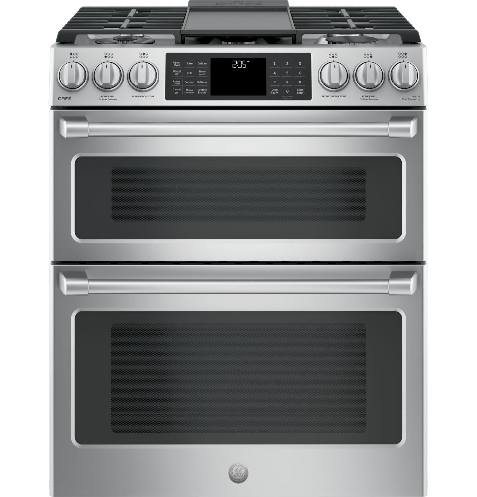 Ge Cafe 30 Slide In Front Control Dual Fuel Double Oven With Convection