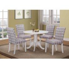 Dorsett Casual White Dining Chair