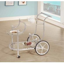 Traditional Chrome Serving Cart