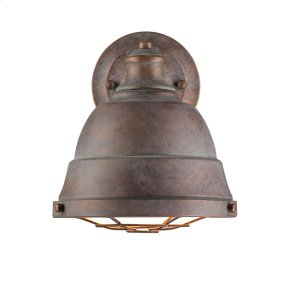 Bartlett 1 Light Wall Sconce in Copper Patina