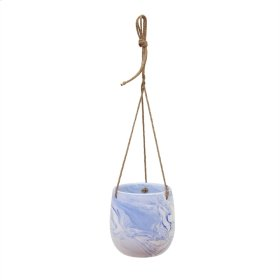 Hanging Blue Marble Planter
