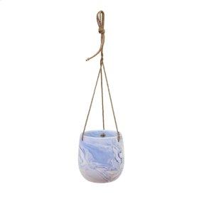 Hanging Blue Marble Planter