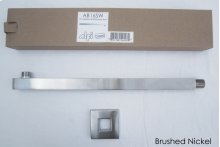 "AB16SW 16"" Square Wall Mounted Brushed Nickel Shower Arm for Square Rain Shower Heads"