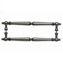 Asbury Door Pull Back to Back 12 Inch (c-c) - Pewter Antique
