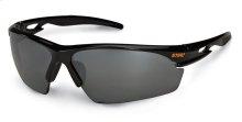 A sleek, stylish pair of protective eyewear that meets ANSI standard Z87.1+