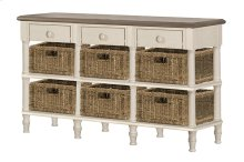 Seneca Sofa Table With 3 Drawers - 6 Baskets Included