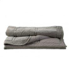 Blanket 180x130 cm THROW velvet silver grey
