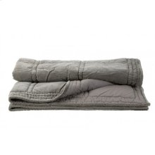 Blanket 180x130 cm THROW velvet silver grey