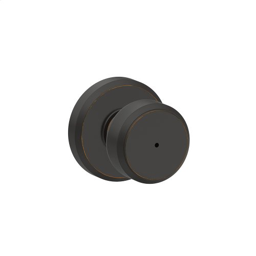 Bowery Knob with Greyson trim Bed & Bath Lock - Aged Bronze