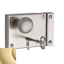 Non-Lacquered Brass 5704 Small Horizontal Rim Lock
