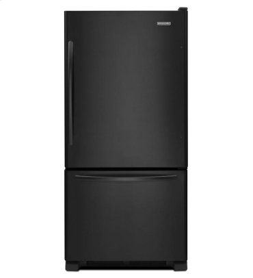 19 Cu. Ft. Standard-Depth Bottom-Freezer Refrigerator, Architect® Series II - Black