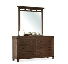 Promenade Six Drawer Dresser Warm Cocoa finish