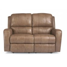 Hammond Leather Power Reclining Loveseat
