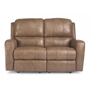 FLEXSTEELHOMEHammond Leather Power Reclining Loveseat