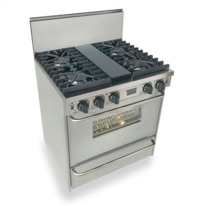 "Five Star30"" All Gas, Convect, Sealed Burners, Stainless Steel"