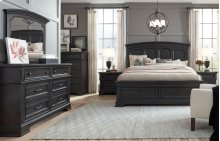 Townsend Arched Panel Bed w/Storage Footboard, Queen 5/0