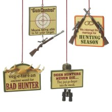 Hunting Plaque Ornament (4 asstd).