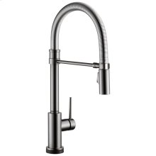 Black Stainless Single Handle Pull-Down Spring Spout Kitchen Faucet with Touch 2 O ® Technology