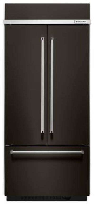 """20.8 Cu. Ft. 36"""" Width Built In Stainless Steel French Door Refrigerator with Platinum Interior Design - Black Stainless Product Image"""