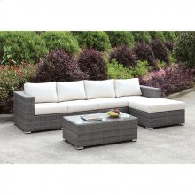 Somani L-sectional W/ Right Chaise + Coffee Table