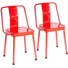 Energy Chair - Set Of 2 - Red Metal