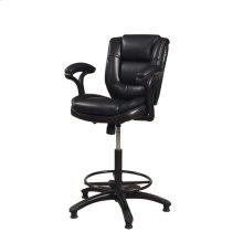 Dawson Black Upholstered Barstool