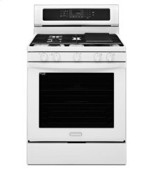 30-Inch 5-Burner Gas with Griddle Freestanding Range, Architect® Series II - White
