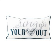 TY Bluebird Sign Pillow 20 x 10