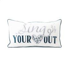 TY Bluebird Sign Pillow 20 x 10