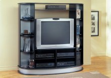 TV STAND - BLACK ENTERTAINMENT CENTER
