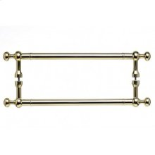 Somerset Weston Door Pull Back to Back 18 Inch (c-c) - Polished Brass