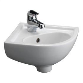 Petite Corner Wall-Hung Basin - Bisque
