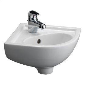 Petite Corner Wall-Hung Basin - White