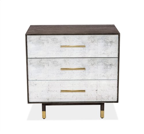Sierra 3-Drawer Bedside Chest - Eglomise