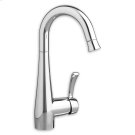 Polished Chrome Bar Faucet with Pull-Down Spray Product Image