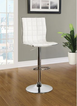 Rain Adjustable Bar Stool White