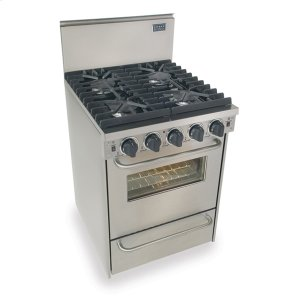 "Five Star24"" All Gas Convection Range, Sealed Burners, Stainless Steel"